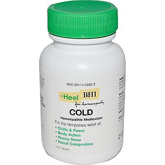 MediNatura, BHI, Cold, 100 Tablets