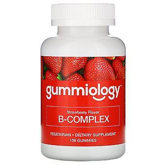 Gummiology, Adult B Complex Gummies, Natural Strawberry Flavor, 100 Vegetarian G