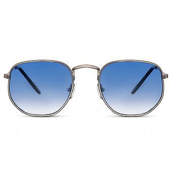 نظارات شمسية Unisex مستطيلة كامل مؤطرة القط. 3 فضة / أزرق