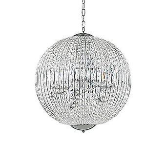 Ideale Lux Luxor - 12 licht groot plafond met kristallen, G9