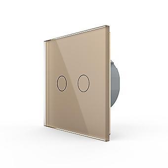 Eu Standard 2 Gang 1 Way Wall Touch Light Switch، مفتاح استشعار الطاقة على الحائط،