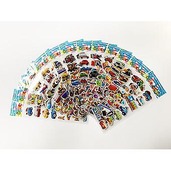 12 ark / pakke 3d tegneserie klistremerker scrapbooking vanntett boble- pvc diy klistremerke leker kawaii prinsesse bil barn gave