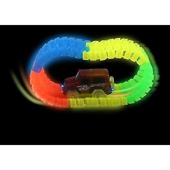Glühende Rennstrecke Bend Flex Flash Im Dunkeln - Montage Auto Spielzeug