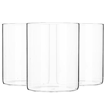 6 Piece Minimalistic Storage Jar Set - Round Scandinavian Style Versatile Glass Canister - 750ml