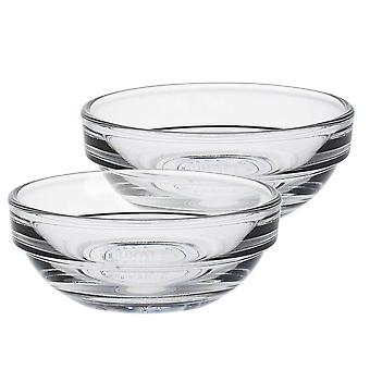 """Duralex Lys Glass Stacking Bowls for Kitchen, Serving - 6cm (2"""") - Pack of 4"""