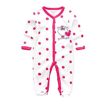 Newborn-girl Foot Rompers Cotton Star Pattern Clothing Infant Toddler Costumes