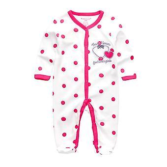 Nyfødte Boy-pige Foot Rompers Cotton Star Mønster Beklædning Infant Toddler Kostumer