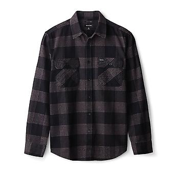 Brixton Bowery Flannel Long Sleeve Shirt Black Steel