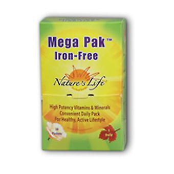 Nature's Life Mega Pck Multiple, Iron Free 30 pack