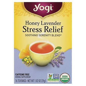 Yogi Honey Lavender Stress Relief, 16 bags, 1.02 oz (29 g)