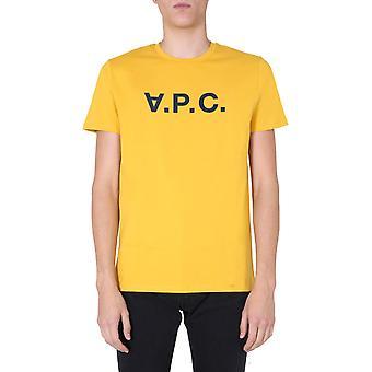 A.p.c. Cobqxh26943daa Men''s Yellow Cotton T-shirt