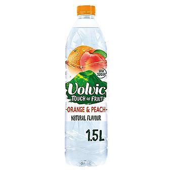 Volvic Touch of Fruit Orange & Peach 1.5L x 6