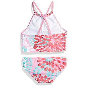 Kanu Surf Big Girls' Daisy Beach Sport Halter Tankini 2-Piece Swimsuit, Pink, 7