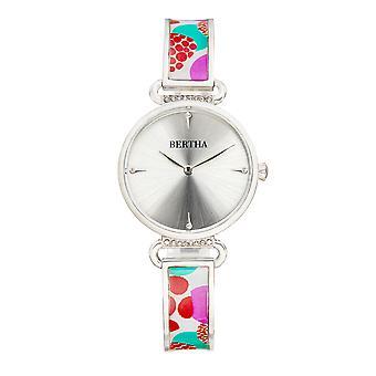 Bertha Katherine Enamel-Designed Bracelet Watch - White