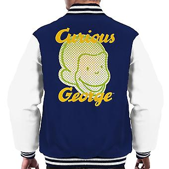 Neugierige George Gesicht Logo Men's Varsity Jacke