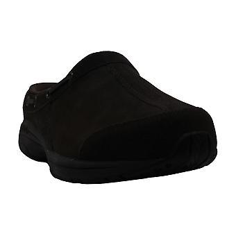 Easy Spirit Womens Travelport Leather Closed Toe Slide Flats