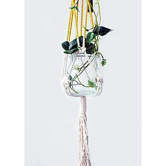 Macrame Plant Hanger, Hand Dyed, Hanging Planter