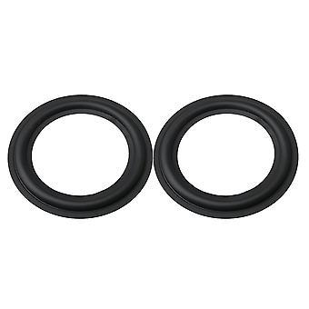 Black Rubber 6.5 Inch Foam Entoure Woofer Bass Horn Speaker Pack de 2
