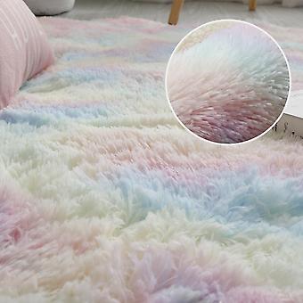 Plüsch Teppich für Wohnzimmer dick flauschige samt Matte