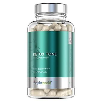 Detox Tone - Plant Based Supplement With Bentonite Clay For Natural Cleansing, Toning and Digestion - 30 Vegan & Vegetarian Friendly Capsules