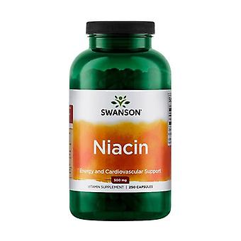 Premium niacin 500 mg 250 capsules of 500mg