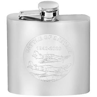 Woodford Slaget om Storbritannien Hip Flask Set - Silver