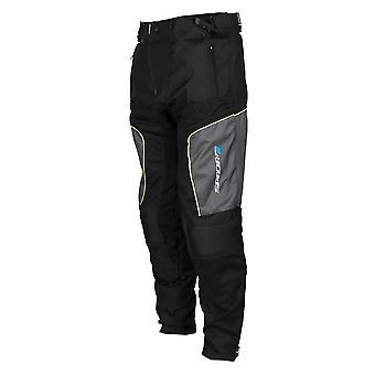Spada Air Pro 2 Seasons Touring Textile Motorcycle Trousers Black Silver