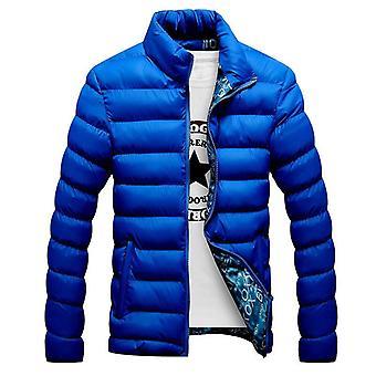 Zimná bunda Muži Módne Stánok golier Male Parka bunda pevná tlstý