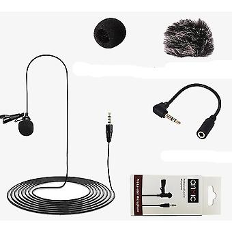1.5m/6m, Clip-on, Lavalier mikrofón pre iPhone / android / iPad / dslr