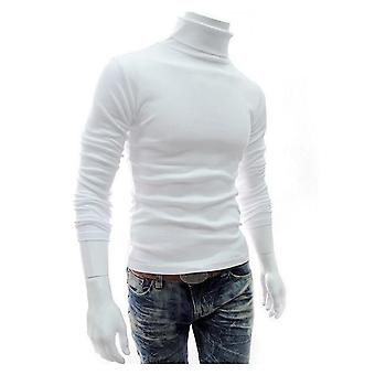 Autumn Winter Men's Sweater, Turtleneck Solid Color, Casual, Men's Slim Fit