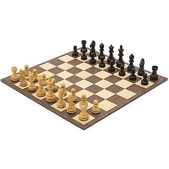 The Emerald Black and Walnut Folding Chess Set