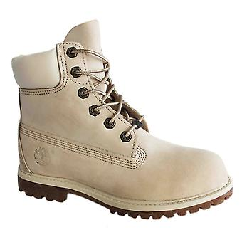 Timberland 6 Inch Premium Waterproof Womens Boots Off White Leather 23623 B87E