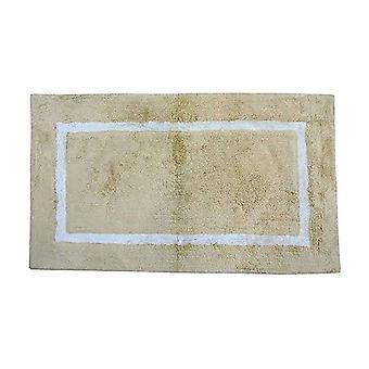 Spura الرئيسية الشرقية الأصفر الفاخر حمام مات W / الأبيض الحدود 18x24 للحمام