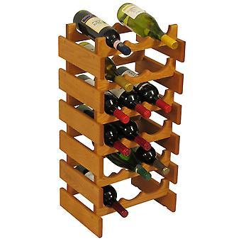 Legno Mallet 18 Bottiglia Dakota Wine Rack, Rovere Medio