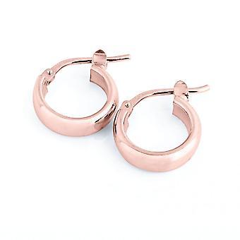 The Hoop Station Elba Huggies Rose Gold Plated 10mm Hoop Earrings H232R