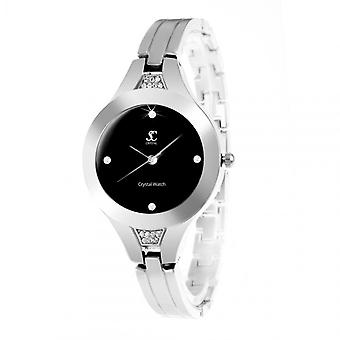 Relógio feminino So Charm MF306-AFN - Pulseira de Alumínio de Prata