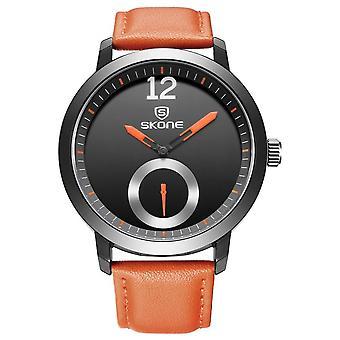 SKONE 5015 mannen vrouwen quartz horloges waterbestendig leer business leisure Wr