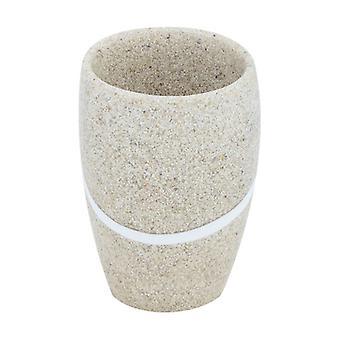 """Tandglas """"sand"""", polyresin 1 enhet"""