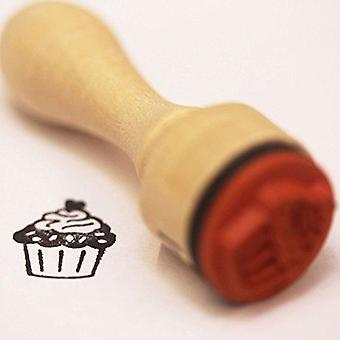 Cupcake Gummi Blæk Stempel | Mini håndværk scrapbog håndlavede tags kort