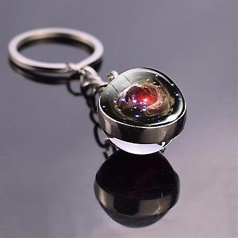 Solar System Planet Galaxy Nebula Space Keychain