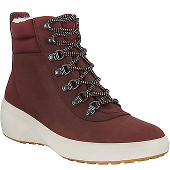 ECCO Womens Soft 7 Wedge Tred Outdoor Waterproof Ankle Boots - Chocolate