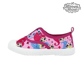 Children's casual trainers shimmer and shine 73571 pink fuchsia