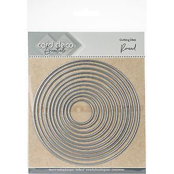 Hitta det Trading Card Deco Essentials häckande Cutting Dies-runda