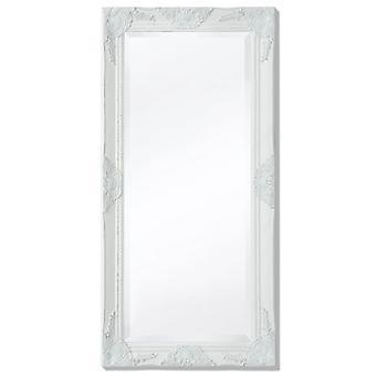 Wandspiegel Barok Stijl 100x50 Cm Wit