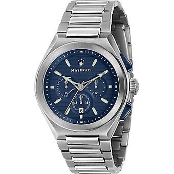 Maserati R8873639001 Men's Triconic Chronograph Steel Bracelet Bracelet Montre-bracelet