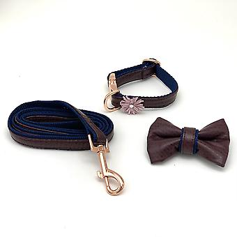 Burgundy & Navy Leather Leash