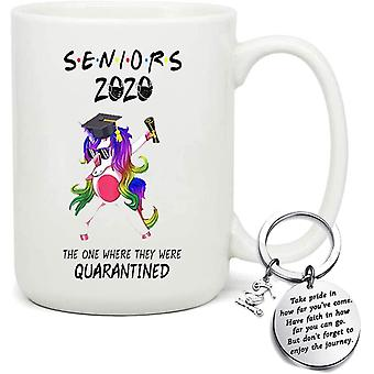 2020 Graduation Gifts - Seniors 2020 The ONE Where They were Quarantine - Novelty Funny Unicorn