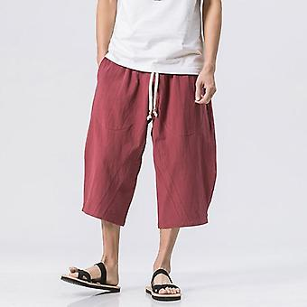 Summer Trousers Wide Leg Loose Hot Chinese Style Harem Pants