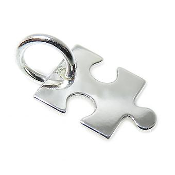 Winziges Puzzleteil Sterling Silber Charm .925 X 1 Puzzel & Jigsaw Puzzles Charms - 15354
