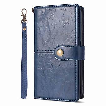 Magnetic Leather CaseSamsung Galaxy S9 - blue